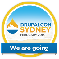 DrupalCon Sydney 2013 - we are going badge!