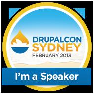 DrupalCon Sydney 2013 - I'm a speaker
