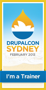 DrupalCon Sydney 2013 - I'm a trainer