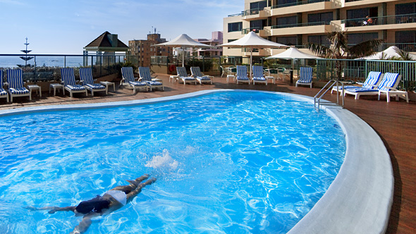 Poolside at the Crowne Plaza Coogee